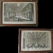 SALE Pair of 18th Century French Antique Vue D'Optiques