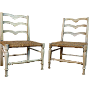 SALE Pair of 19th Century Antique French Provincial Child Chairs