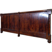SALE 19th Century French Antique Empire Headboard King Size.
