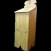 SALE French Antique Pine Bread Bin