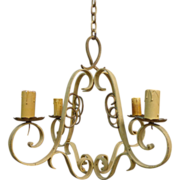 SALE French Antique Louis XV Style 4-Light Chandelier
