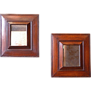 SOLD Pair of 19th Century French Antique Cevenol Mirrors