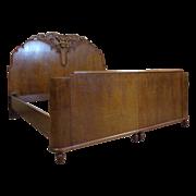 SOLD Italian Vintage Art Deco Mahognay Bed/ Twin Beds
