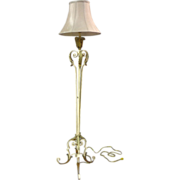 SALE French Antique Wrought Iron Floor Lamp