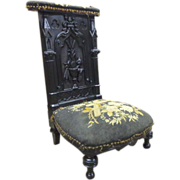 SOLD 19th Century French Antique Eucharistic Prayer Chair