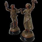 SOLD Pair of 19th Century Antique Statues