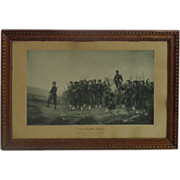 SALE 19th Century French Antique Military Engraving