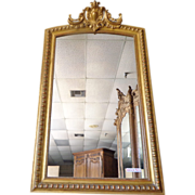 SOLD 19th Century French Antique Regence Style Gilded Mirror