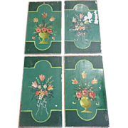 SOLD Set of 4 19th Century Painted Panels