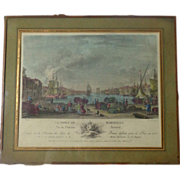 SALE 18th Century French Antique Engraving Le Port De Marseille