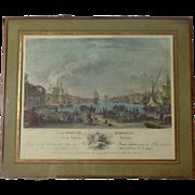 SALE 18th Century French Antique Engraving Le Port De Marseille