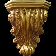 SALE Vintage Italian Rococo Gilded Bracket