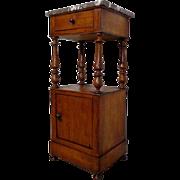 SALE 19th Century Antique Louis Philippe Period Walnut Nightstand
