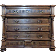 SALE 19th Century Antique French Louis XVI Style Walnut Commode