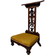 SALE 18th Century Antique Italian Walnut Prayer Chair