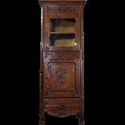 SALE 19th Century Antique French Provencal Oak Vitrine Cabinet