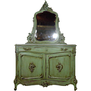 SALE 19th Century Antique French Louis XV Rococo Buffet Vanity