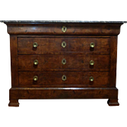 19th Century Antique French Louis Philippe Period Walnut Commode