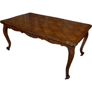 SALE Antique French Louis XV Style Provencal Walnut Dining Table