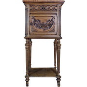SALE 19th Century Antique French Louis XVI Style Walnut Nightstand