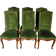SALE Set of 6 Antique French Louis XV Style Dining Chairs