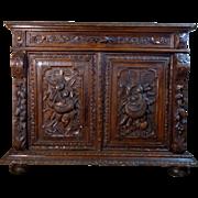 SALE 19th Century Antique French Renaissance Style Oak Buffet