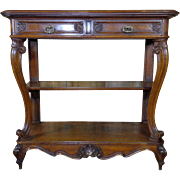 SALE 19th Century Antique French Louis XV Style Walnut Sideboard