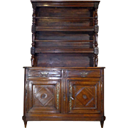 SALE 18th Century Antique French Louis XVI Period Chestnut Buffet 2 Corps Vaisselier
