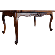 SALE Antique Country French Louis XV Style Walnut Provencal Dining Table