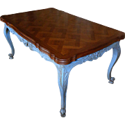 SALE Antique Country French Provencal Walnut Dining Table