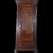 SALE 18th Century Antique French Louis XIV Period Oak Bonnetiere Cabinet