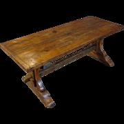SALE 18th Century Antique French Oak Trestle Table