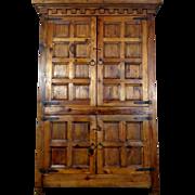 SALE Vintage Spanish Renaissance Style Pine Cabinet