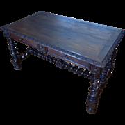 SALE 19th Century Antique French Renaissance Style Oak Desk
