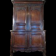 SALE 18th Century Antique French Louis XVI Period Oak Buffet Deux Corps