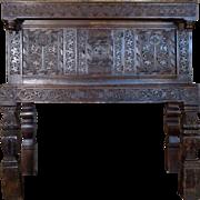 SALE 17th century Antique English Charles II Period Oak Cabinet