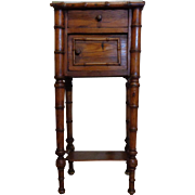 SALE 19th Century Antique French Faux Bamboo Nightstand