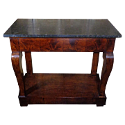 SALE 19th Century Antique French Restoration Period Mahogany Console
