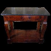 SALE 19th Century Antique French Restoration Period Mahogany Console