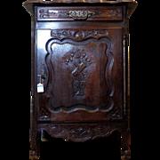 SALE 19th Century Antique French Louis XV Style Oak Cabinet Confiturier