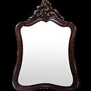 SALE 19th Century Antique French Louis XV Style Walnut Mirror