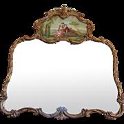 SALE Antique French Louis XV Rococo Style Mirror Trumeau