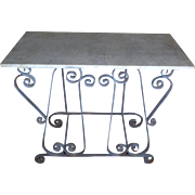 SALE Antique French Louis XV Style Wrought Iron Console