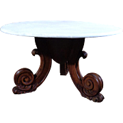 SALE Antique Italian Rococo Walnut Coffee Table