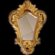 SOLD Antique Italian Rococo Style Lime Tree Mirror