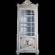 SALE 19th Century Antique French Louis XVI Style Vitrine Curio