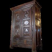 SALE 18th Century Antique French Louis XIV Period Oak Armoire