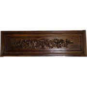 SOLD 19th Century Antique French Louis XVI Style Above Doors Walnut Panel