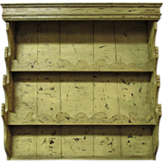 SALE 18th Century Antique French Pine Wall Vaisselier