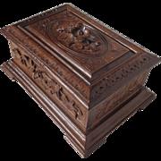 SOLD 19th Century Antique Black Forest Walnut Jewelry Box